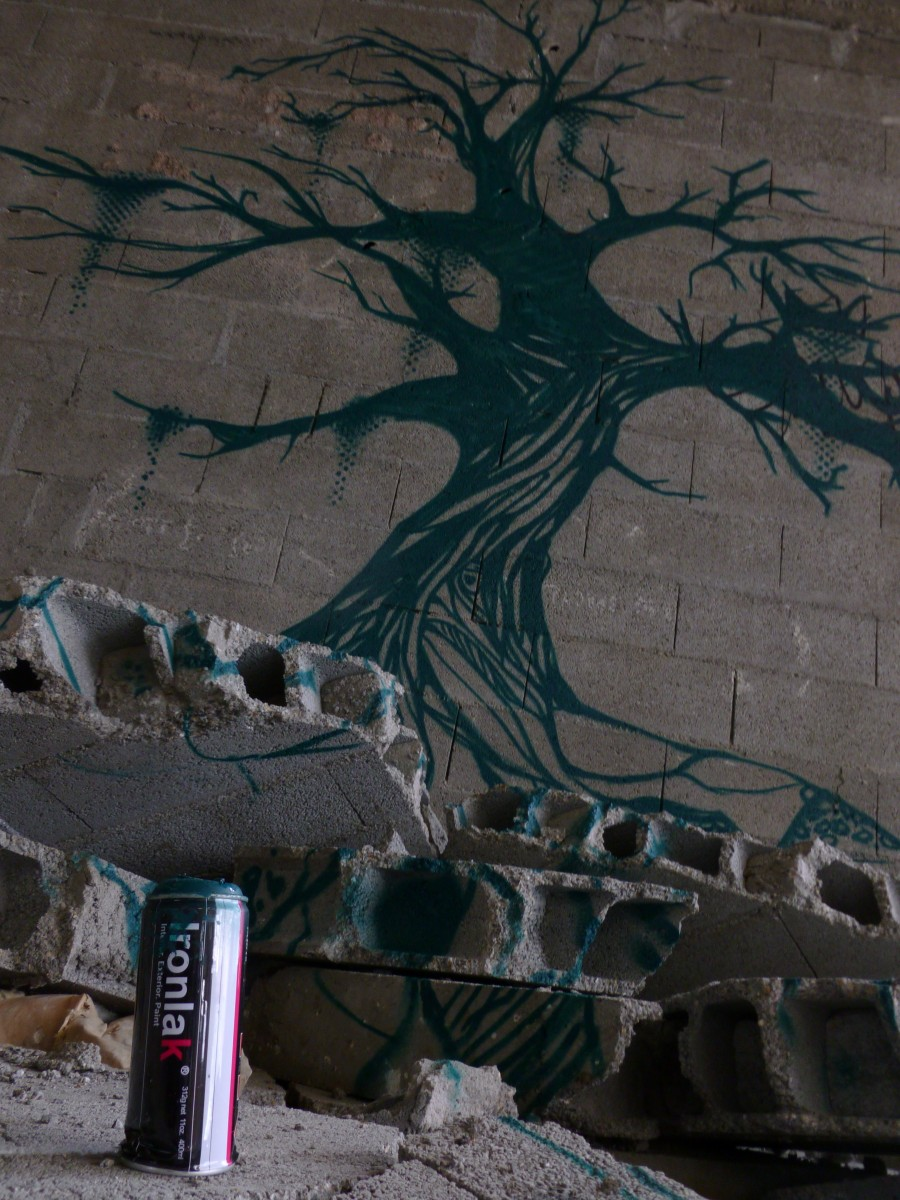 l'arbre- graffiti- ironlak
