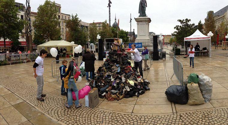 pyramide de chaussures clermont-ferrand
