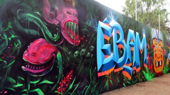 Détail fresque Street Art
