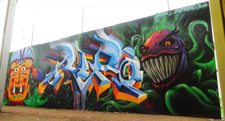 Détail Fresque Festival Epipapu Graffiti
